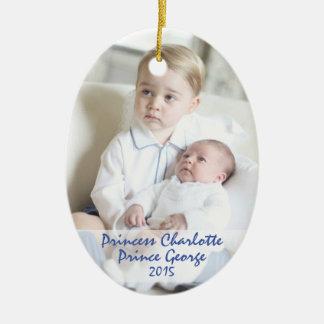 Royal Children - George & Charlotte Ceramic Oval Decoration