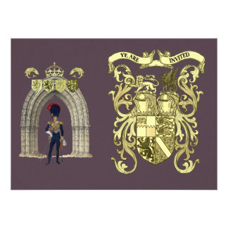 Royal Coat Of Arms And Victorian Guard Personalized Announcement