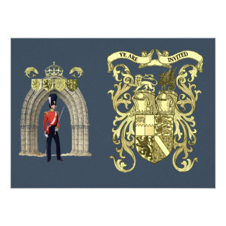 Royal Coat Of Arms And Victorian Guard Invitation