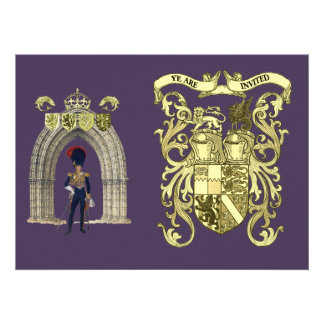 Royal Coat of Arms and Victorian Guard Custom Invitations