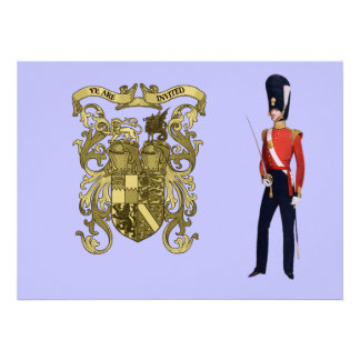 Royal Coat Of Arms And Victorian Guard Custom Announcement