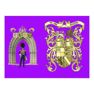 Royal Coat of Arms and Victorian Guards 5.5x7.5 Paper Invitation Card