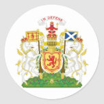 Royal Coat of Arms of the Kingdom of Scotland Round Sticker