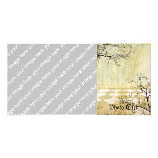 Royal Coordinates Background with Branches Personalized Photo Card