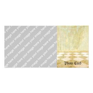 Royal Coordinates Plain Customized Photo Card