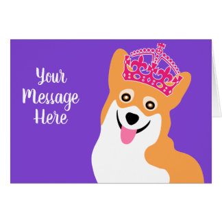 Royal Corgi Custom Greeting Card