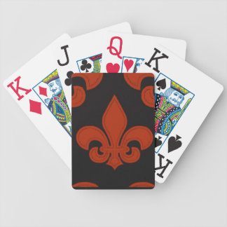 Royal* Court-Cards-Red-Blk-Fleur De Lis Bicycle Playing Cards