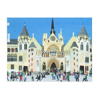 Royal Courts of Justice London 1994 Canvas Print