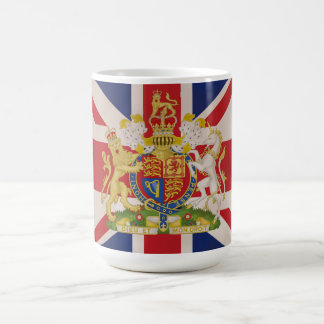 Royal Crest on the Union Jack Flag Coffee Mug