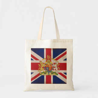 Royal Crest on the Union Jack Flag Tote Bag