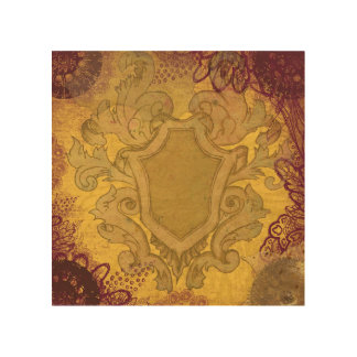 Royal Crest wall wood panel Wood Canvases