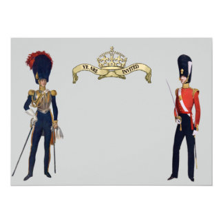 Royal Crown And Victorian Guards Custom Invite