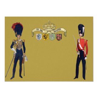 Royal Crown And Victorian Guards 5.5x7.5 Paper Invitation Card
