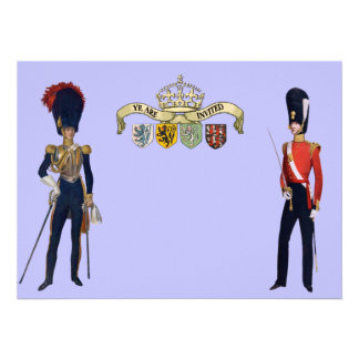 Royal Crown And Victorian Guards Custom Invitations