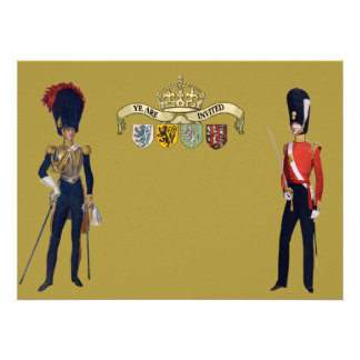 Royal Crown And Victorian Guards Personalized Invitations