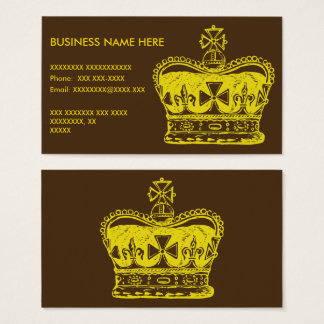 Royal Crown Graphic Business Card