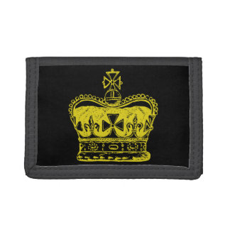 Royal Crown Graphic Tri-fold Wallets