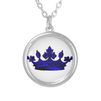 Royal Crown in Purple. Prince, Princess, King, Que Personalized Necklace