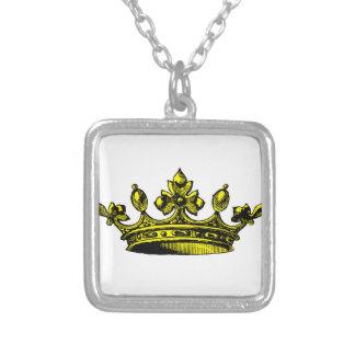 Royal Crown in yellow goldish Prince, Princess, Ki Custom Necklace