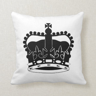 Royal Crown silhouette pillow Queen Elizabeth II