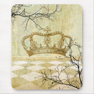 Royal Crown with Branches Mouse Pad