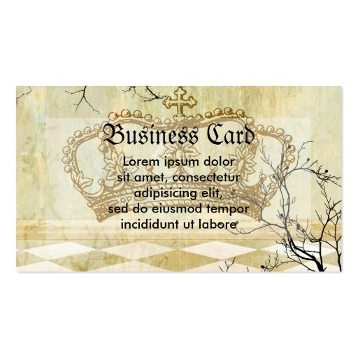 Royal Crown with Branches Pack Of Standard Business Cards