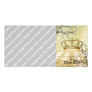 Royal Crown with Branches Photo Greeting Card