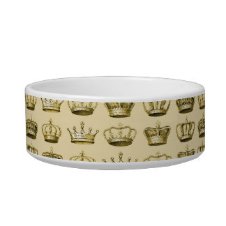 Royal Crowns of Gold Cat Bowl