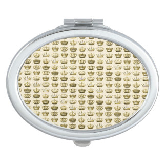 Royal Crowns of Gold Compact Mirrors