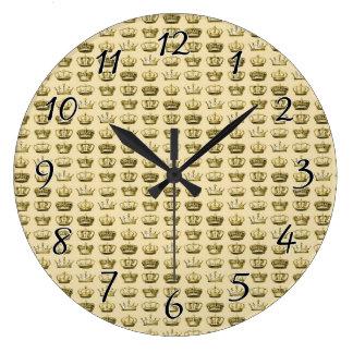Royal Crowns of Gold Wall Clocks