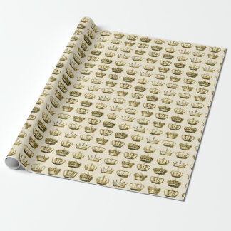 Royal Crowns of Gold Wrapping Paper