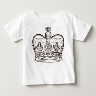Royal design with crown in vintage style baby T-Shirt