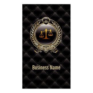 Royal Diamond Black Lawyer Attorney business card