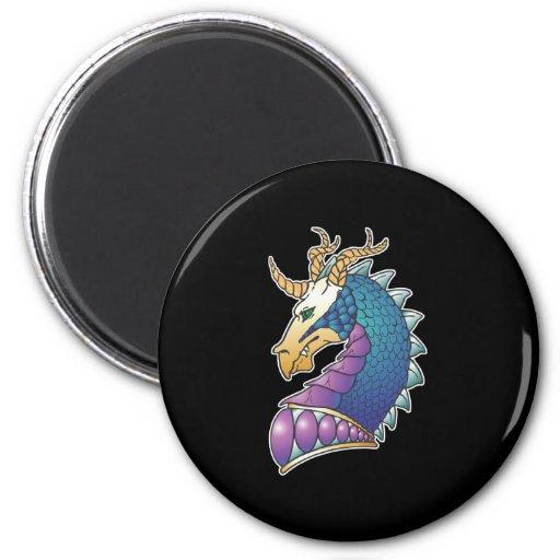 royal dragon head magnet