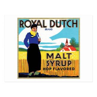 Royal Dutch Malt Syrup Hop Flavored Ad Post Card