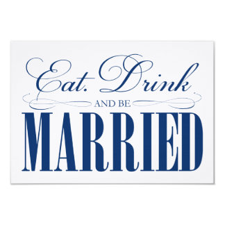 Royal Eat, Drink & Be Married   Enclosure Card