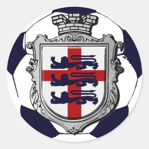 Royal England Soccer ball England flag gifts Round Sticker