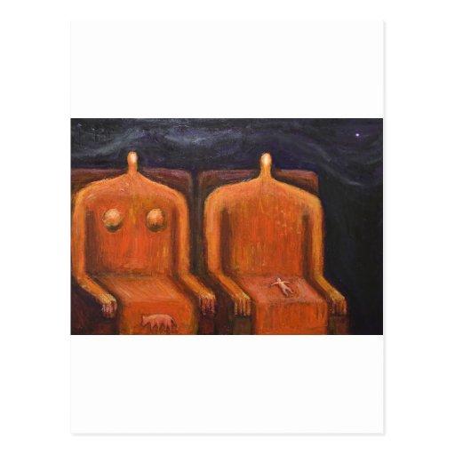 Royal Family (abstract dark human figures ) Post Card