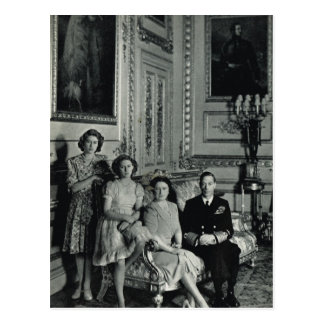 Royal family, George VI, wife and princesses Postcard