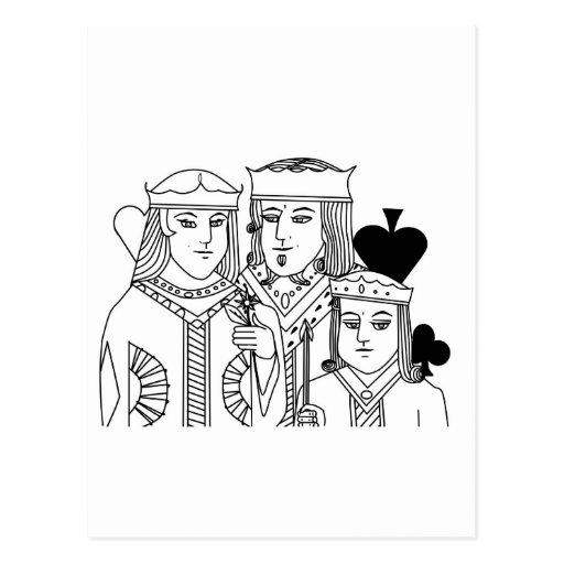 Royal Family portraiture card game poker items Postcards
