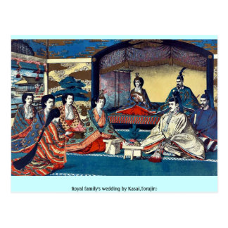 Royal family s wedding by Kasai Torajirō Postcards