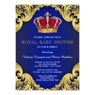 Royal Fancy Prince Baby Shower 17 Cm X 22 Cm Invitation Card