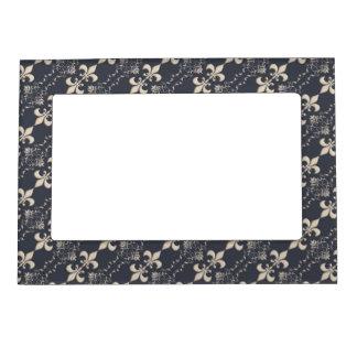 Royal Fleur-de-Lis pattern. Magnetic Picture Frame