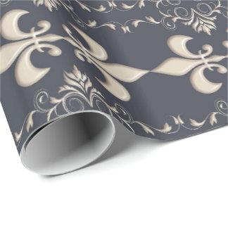 Royal.Fleur de Lis pattern Wrapping Paper