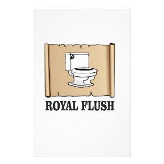 royal flush dump stationery design
