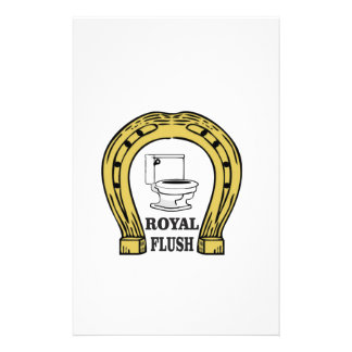 royal flush luck personalised stationery