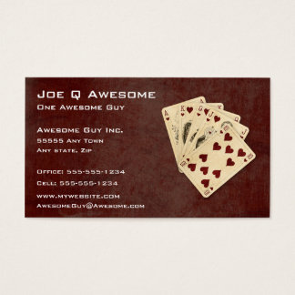 Royal Flush Poker Hand Business Card