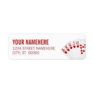 Royal Flush Return Address Label