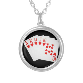Royal Flush Silver Plated Necklace