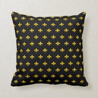 Royal French Black Throw Pillow